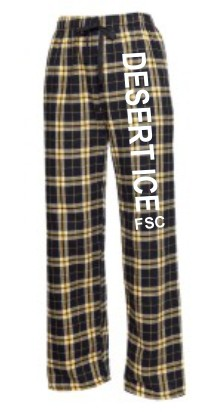 Black/Gold Flannel Pant